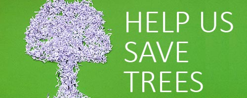 help us save trees with eDelivery